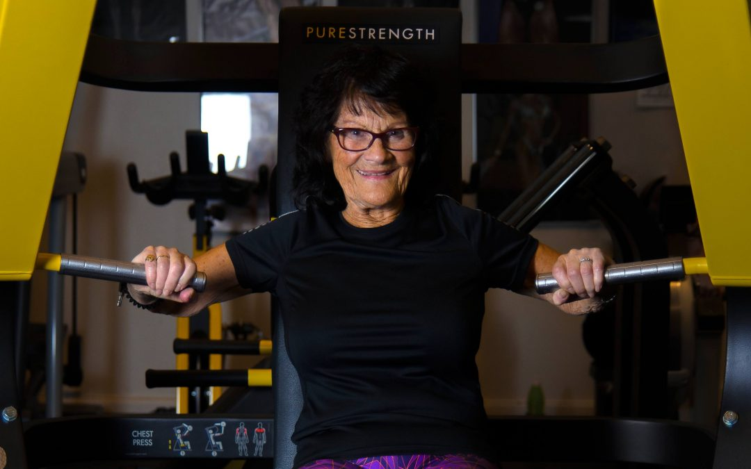 Ingrid (81) Lillesand Treningsstudios sprekeste senior!